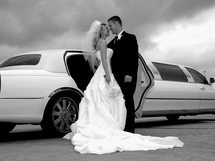 B&W JUst Married